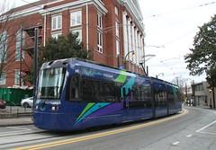 Siemens S70 tram on the Atlanta Downtown Loop