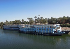 Egypt (Luxor) Nile cruise ships waiting for travellers