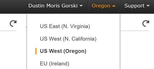 aws-select-us-region-from-dropdown