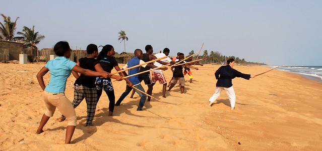 Stage de sabre_Atelier Nomade, Cotonou