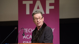 TAF:n hallituksen puheenjohtaja Marja Makarow.