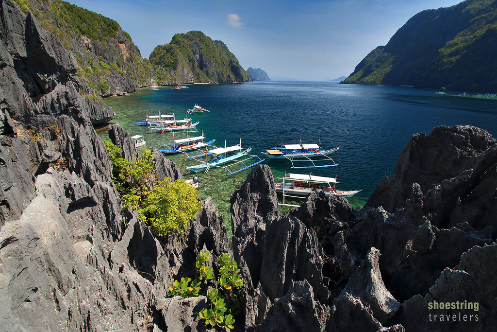 the viewpoint at Matinloc Island, El Nido