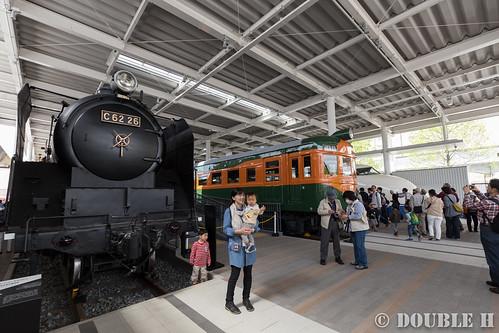 Kyoto Railway Museum (7) promenade / C62-2-26, Kuha86-1, 0 Series 21-1