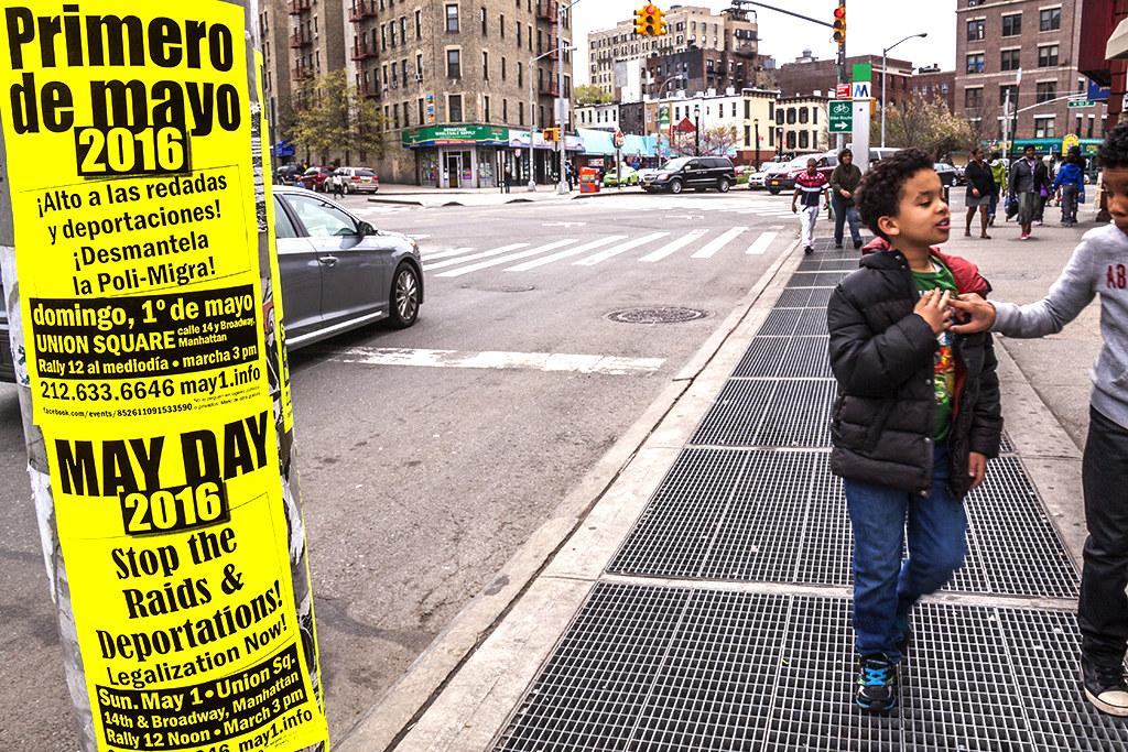 May Day flyers--Washington Heights