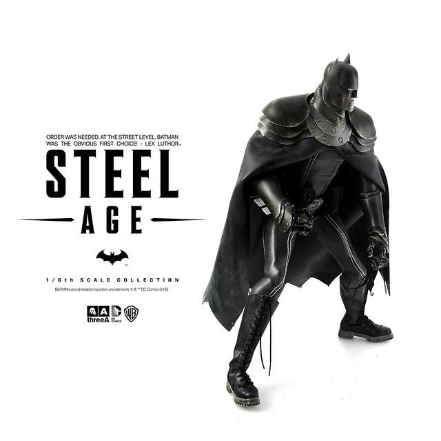 threeA – DC 漫畫系列【鋼鐵世代:蝙蝠俠】Steel Age Batman 1/6 比例人偶作品