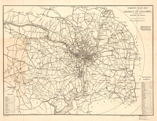 Roberts Bicycle Map Washington DC and area 1896