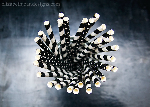 Black White Paper Straws