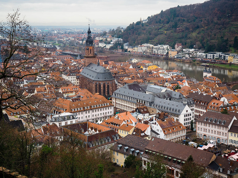 Heidelberg, Germany, from above
