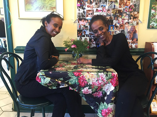 Abeba + Lene at the Reopened Kefa Cafe