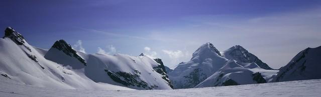 Bernina: panorama near the top