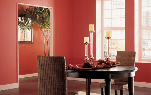 Paint them rich- let your dining room walls come alive