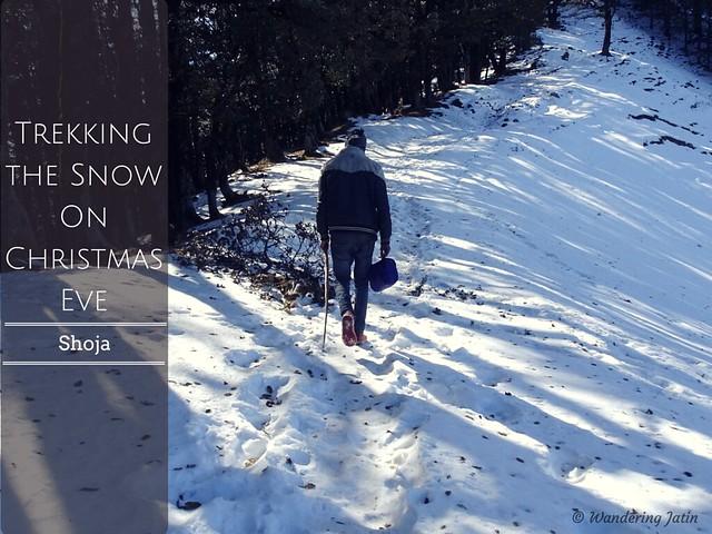 Snow trekking to Raghupur Fort, Himachal