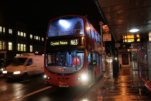 London Central WVL318 on Route N63, King's Cross