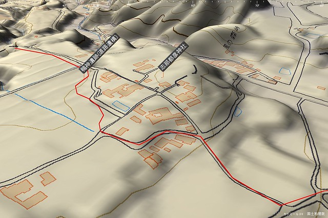 風の森峠周辺3D神社