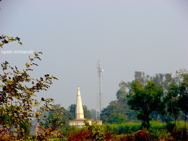 High mobile tower but never be taller than Samor Baba. A full view from Paigu Road near river Aab Ganga