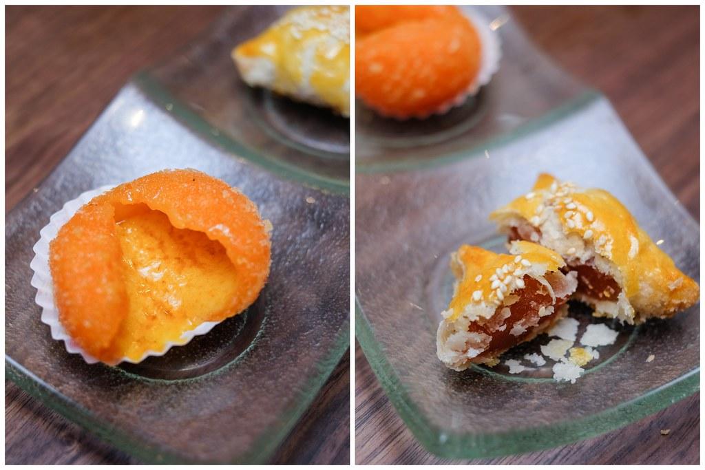 田傅茶室:油炸脆奶油面包和煎糯米与切碎的鸭肉煎饼vwin备用