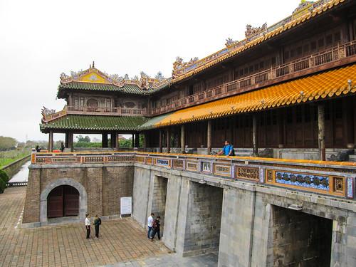 La Citadelle de Hué: 1er étage de la Porte du Midi