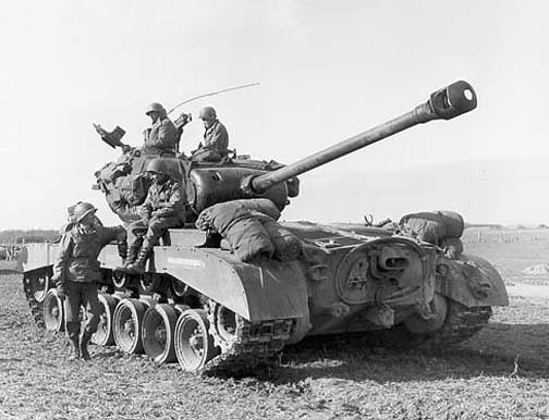 M26 Pershing heavy tank of the US 9th Armored Division