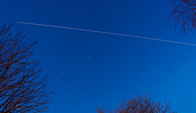 International Space Station (ISS) Trail over the UK