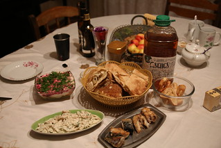The spread at Emma's Guesthouse