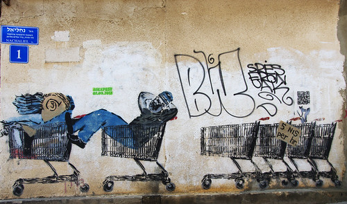 Graffiti street art of the Yemenite Quarter
