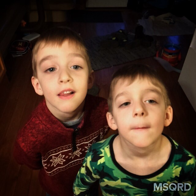 Swapped faces on the twins... But...