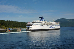 Ferry departing Victoria on Vancouver Island for Tsawwassen in Vancouver, British Columbia,