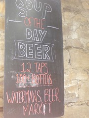 Soup of the Day 'Beer' at a Salamanca watering hole