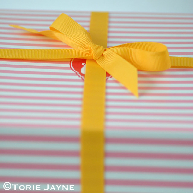 Yellow ribbon tied Tala Cake Box