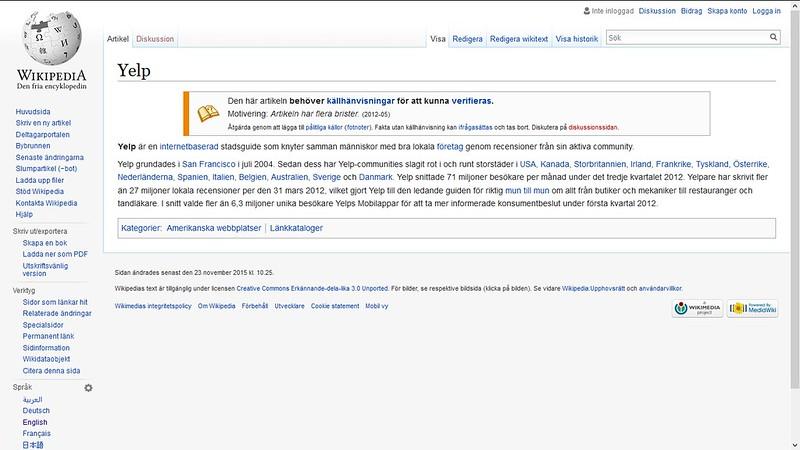 yelp wiki