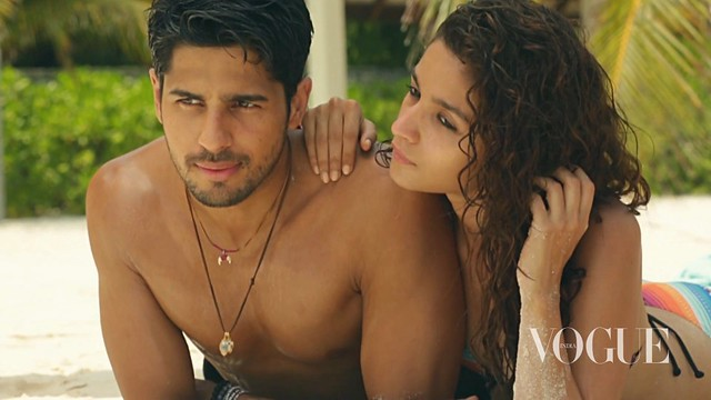 Alia Bhatt and Sidharth Malhotra in sexy attire on beach