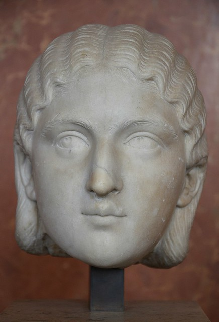 Bust of Empress Sallustia Orbiana, wife of Alexander Severus, 3rd century, Louvre Museum