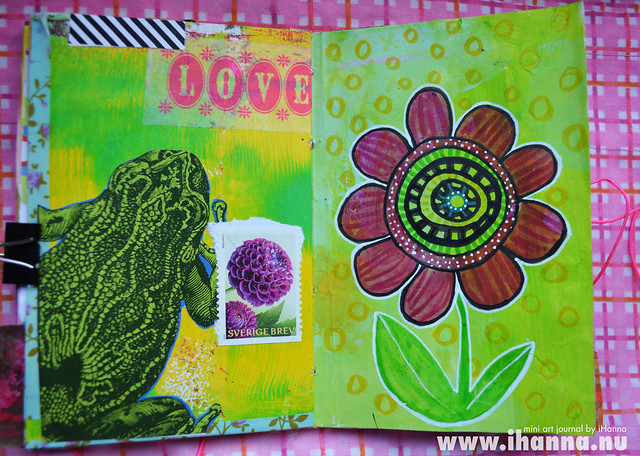 Mini Art Journal Frog & Flower - created by iHanna