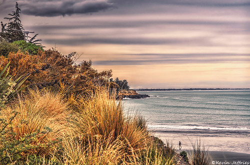 ocean newzealand seascape beach pacific canterbury timaru carolinebay kevinjeffries