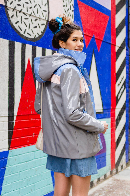grey asos rain mac coat jacket