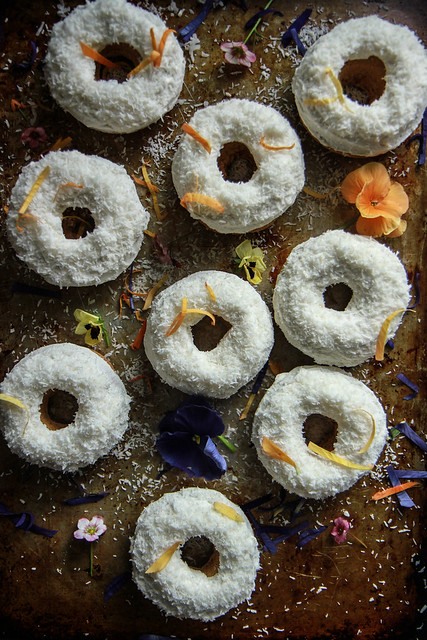 Carrot Cake Donuts- vegan and gluten free from HeatherChristo.com