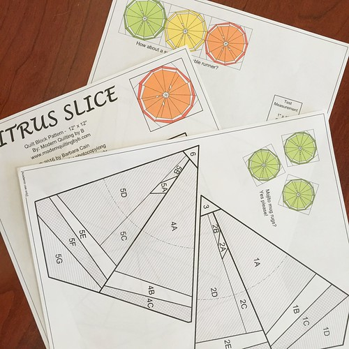 Citrus Slice Paper Piece Pattern
