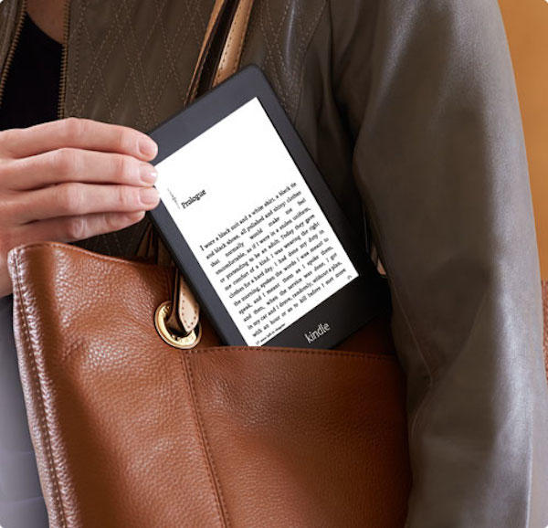 el kindle dentro de una cartera