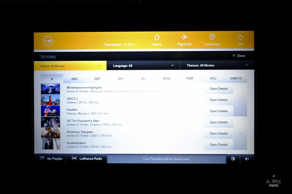 Inflight entertainment