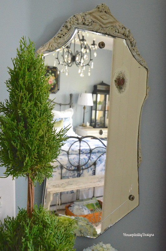 Vintage Etched MIrror - Housepitality Designs