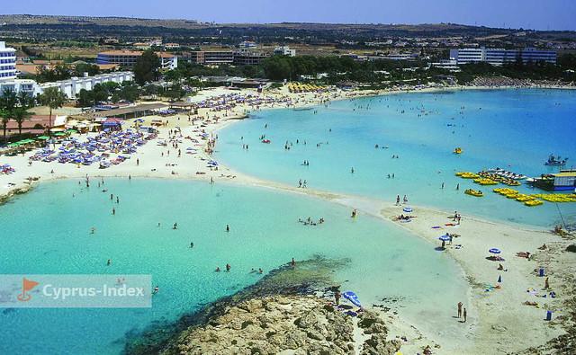Пляж Нисси Бич и Нисси Бэй. Пляжи Кипра а городе Айя-Напа
