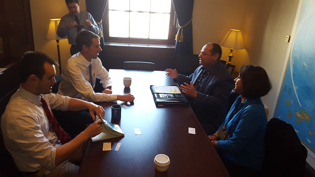 Jerry and Sonia Ruiz meet with Rep. Beto O' Rourke
