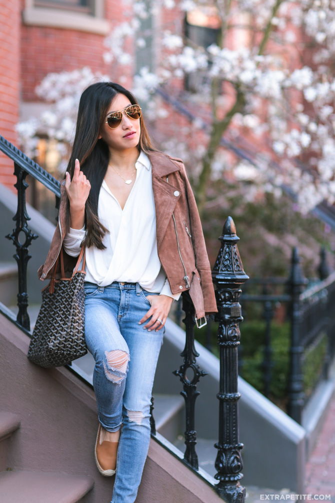 rayban aviators blank nyc jacket rag bone distressed jeans outfit