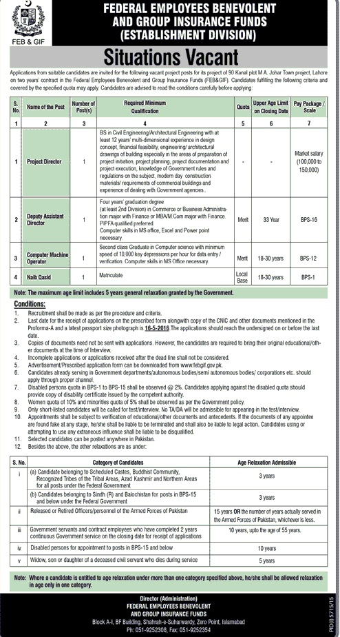 Federal Employees Benevolent Jobs 2016