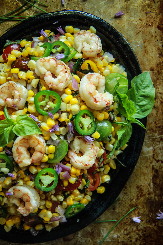 Shrimp and Corn Salad from HeatherChristo.com