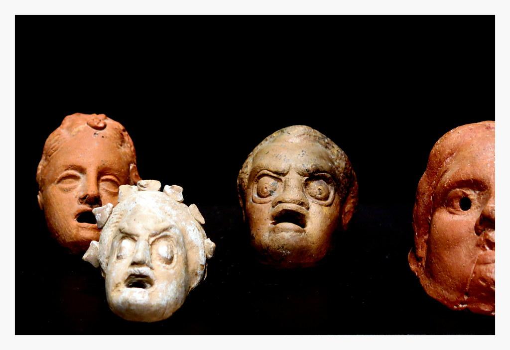 máscaras de arcilla