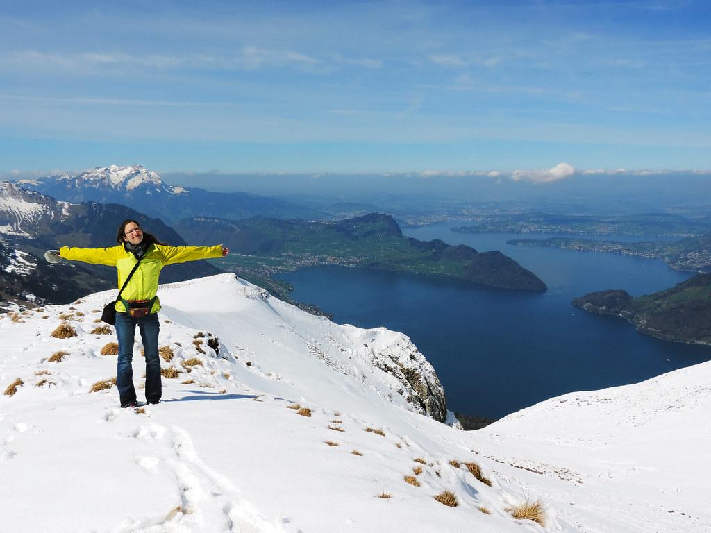 Conquering Snowy Niederbauen Chulm, Swiss Alps
