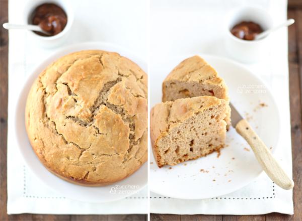 Torta alla crema di marroni, mandorle e cioccolato bianco (senza zuccheri aggiunti)