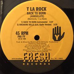 T LA ROCK:BACK TO BURN(LABEL SIDE-B)