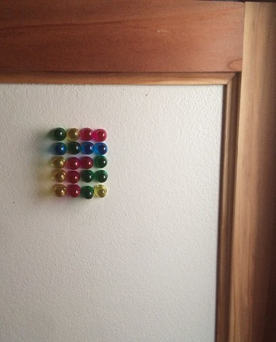Magnets on White Board